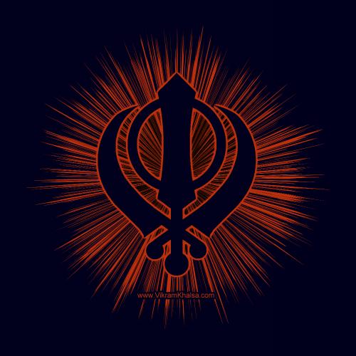 Khanda T Shirt Vikram Singh Khalsa